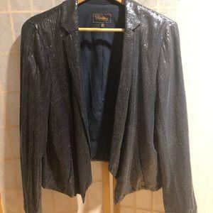 Madewell Midnight Blue Sequin Blazer Size 12